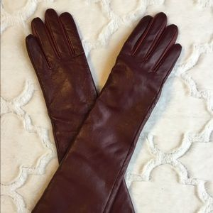 A New Day Women's Burgundy Genuine Leather Gloves